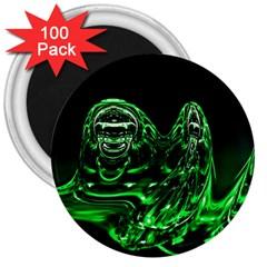 Modern Art 3  Button Magnet (100 Pack) by Siebenhuehner