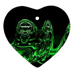 Modern Art Heart Ornament (two Sides) by Siebenhuehner