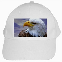 Bald Eagle White Baseball Cap by Siebenhuehner