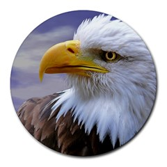 Bald Eagle 8  Mouse Pad (round) by Siebenhuehner