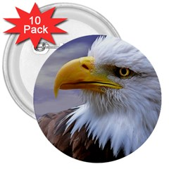 Bald Eagle 3  Button (10 Pack) by Siebenhuehner