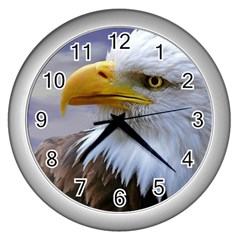 Bald Eagle Wall Clock (silver) by Siebenhuehner
