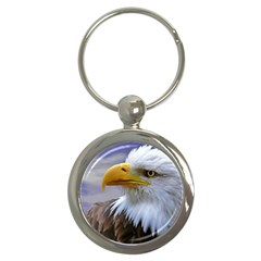 Bald Eagle Key Chain (round) by Siebenhuehner