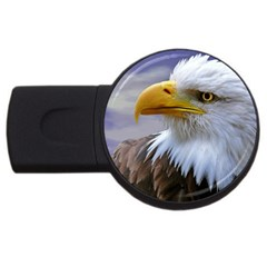 Bald Eagle 2gb Usb Flash Drive (round) by Siebenhuehner