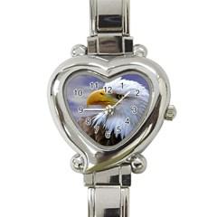Bald Eagle Heart Italian Charm Watch  by Siebenhuehner