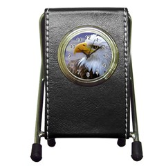 Bald Eagle Stationery Holder Clock by Siebenhuehner