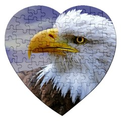 Bald Eagle Jigsaw Puzzle (heart) by Siebenhuehner