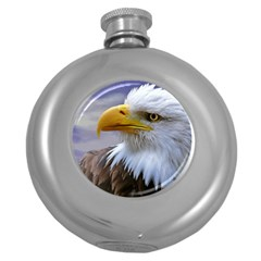 Bald Eagle Hip Flask (round) by Siebenhuehner