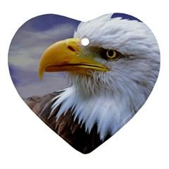 Bald Eagle Heart Ornament (two Sides) by Siebenhuehner