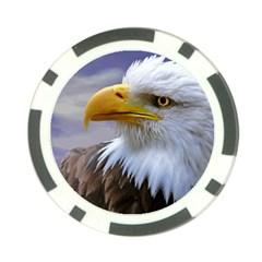Bald Eagle Poker Chip by Siebenhuehner