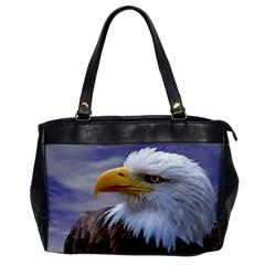 Bald Eagle Oversize Office Handbag (One Side)