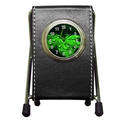 Waterdrops Stationery Holder Clock by Siebenhuehner