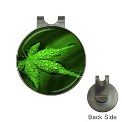 Leaf With Drops Hat Clip With Golf Ball Marker by Siebenhuehner
