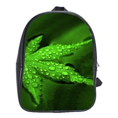 Leaf With Drops School Bag (large) by Siebenhuehner