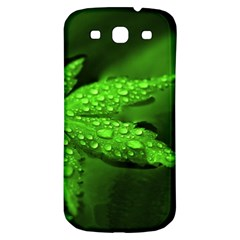 Leaf With Drops Samsung Galaxy S3 S Iii Classic Hardshell Back Case by Siebenhuehner