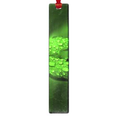 Leaf With Drops Large Bookmark by Siebenhuehner