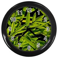 Bamboo Wall Clock (black) by Siebenhuehner
