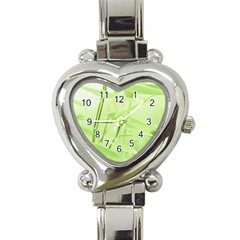 Bamboo Heart Italian Charm Watch  by Siebenhuehner