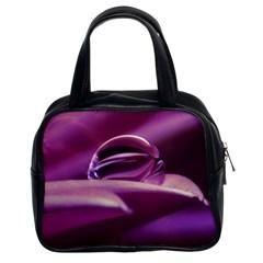 Waterdrop Classic Handbag (two Sides) by Siebenhuehner