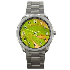 Leaf Sport Metal Watch by Siebenhuehner