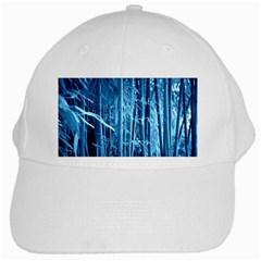 Blue Bamboo White Baseball Cap by Siebenhuehner