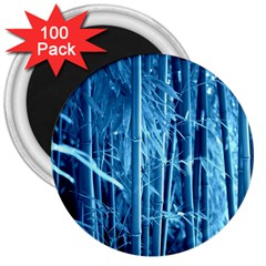 Blue Bamboo 3  Button Magnet (100 Pack) by Siebenhuehner