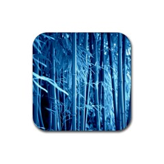 Blue Bamboo Drink Coaster (square) by Siebenhuehner
