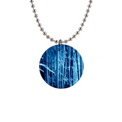 Blue Bamboo Button Necklace by Siebenhuehner