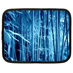 Blue Bamboo Netbook Case (large) by Siebenhuehner
