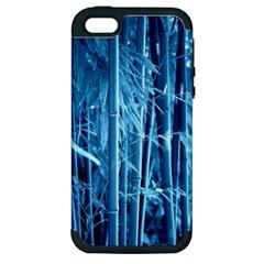 Blue Bamboo Apple Iphone 5 Hardshell Case (pc+silicone) by Siebenhuehner