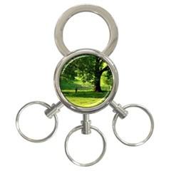 Trees 3 Ring Key Chain by Siebenhuehner