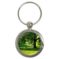 Trees Key Chain (round) by Siebenhuehner