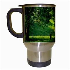 Trees Travel Mug (white) by Siebenhuehner