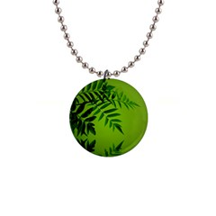 Leaf Button Necklace by Siebenhuehner