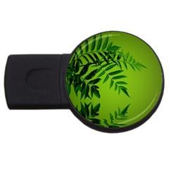 Leaf 4gb Usb Flash Drive (round) by Siebenhuehner