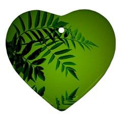 Leaf Heart Ornament (two Sides) by Siebenhuehner