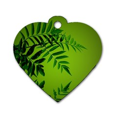 Leaf Dog Tag Heart (two Sided) by Siebenhuehner