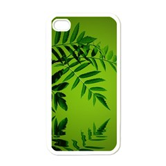 Leaf Apple Iphone 4 Case (white) by Siebenhuehner