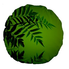 Leaf 18  Premium Round Cushion  by Siebenhuehner