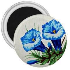 Enzian 3  Button Magnet by Siebenhuehner