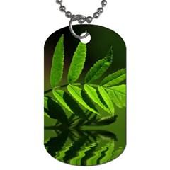 Leaf Dog Tag (one Sided) by Siebenhuehner