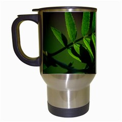 Leaf Travel Mug (white) by Siebenhuehner