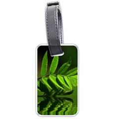 Leaf Luggage Tag (one Side) by Siebenhuehner