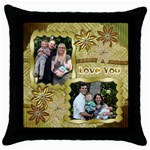 pillowlove - Throw Pillow Case (Black)