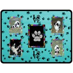 Dog Lover s large blanket #5 - Fleece Blanket (Large)
