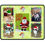 Santa Paws medium blanket - Fleece Blanket (Medium)