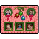 Holiday Joy large blanket - Fleece Blanket (Large)