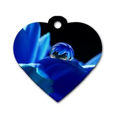 Waterdrop Dog Tag Heart (one Sided)  by Siebenhuehner