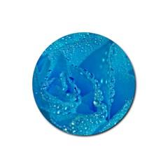Blue Rose Drink Coaster (round) by Siebenhuehner