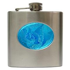 Blue Rose Hip Flask by Siebenhuehner